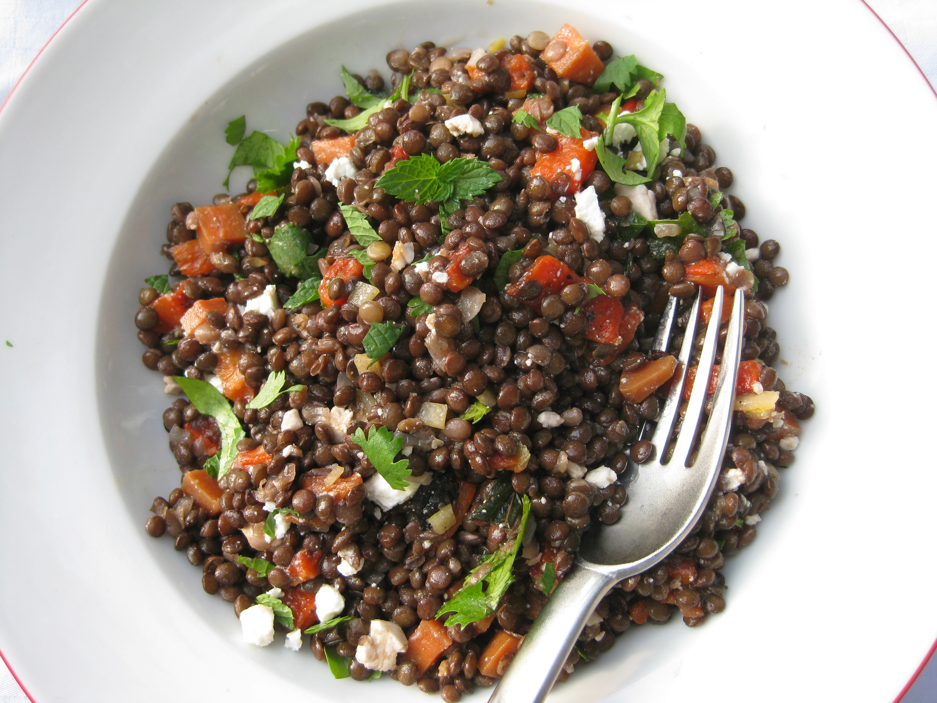 Lentil Salad with Roasted Peppers and Mint | Prospect: The Pantry