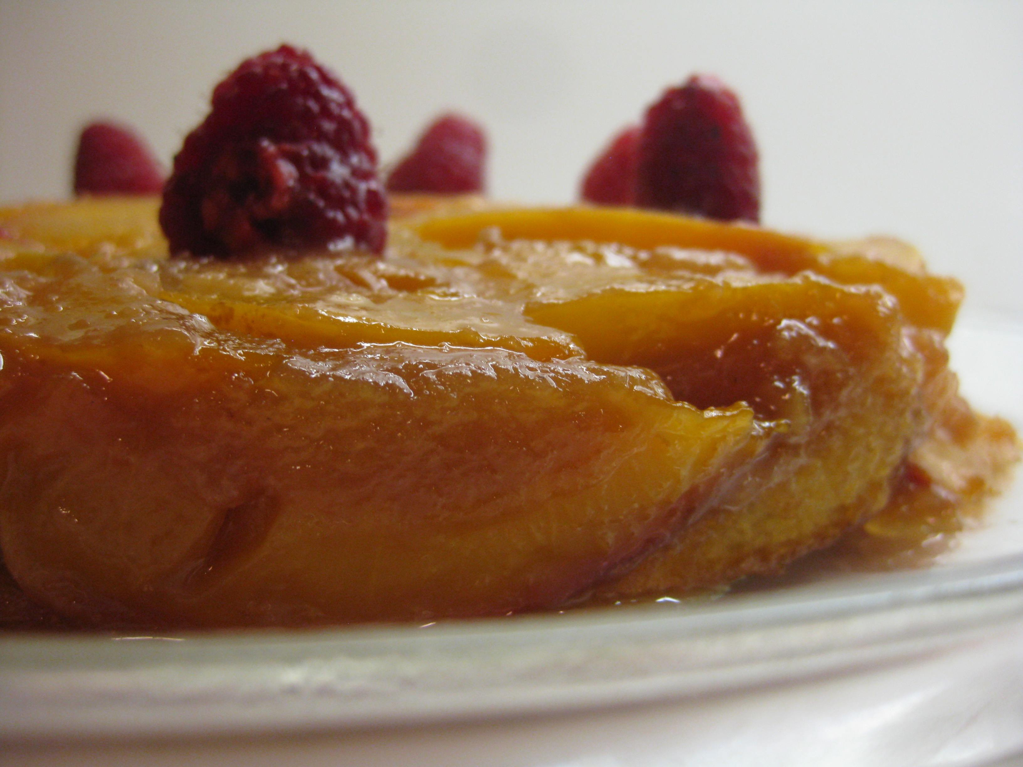 Paper Chef: Nectarine Upside-Down Cake with Green Tea Ice ...