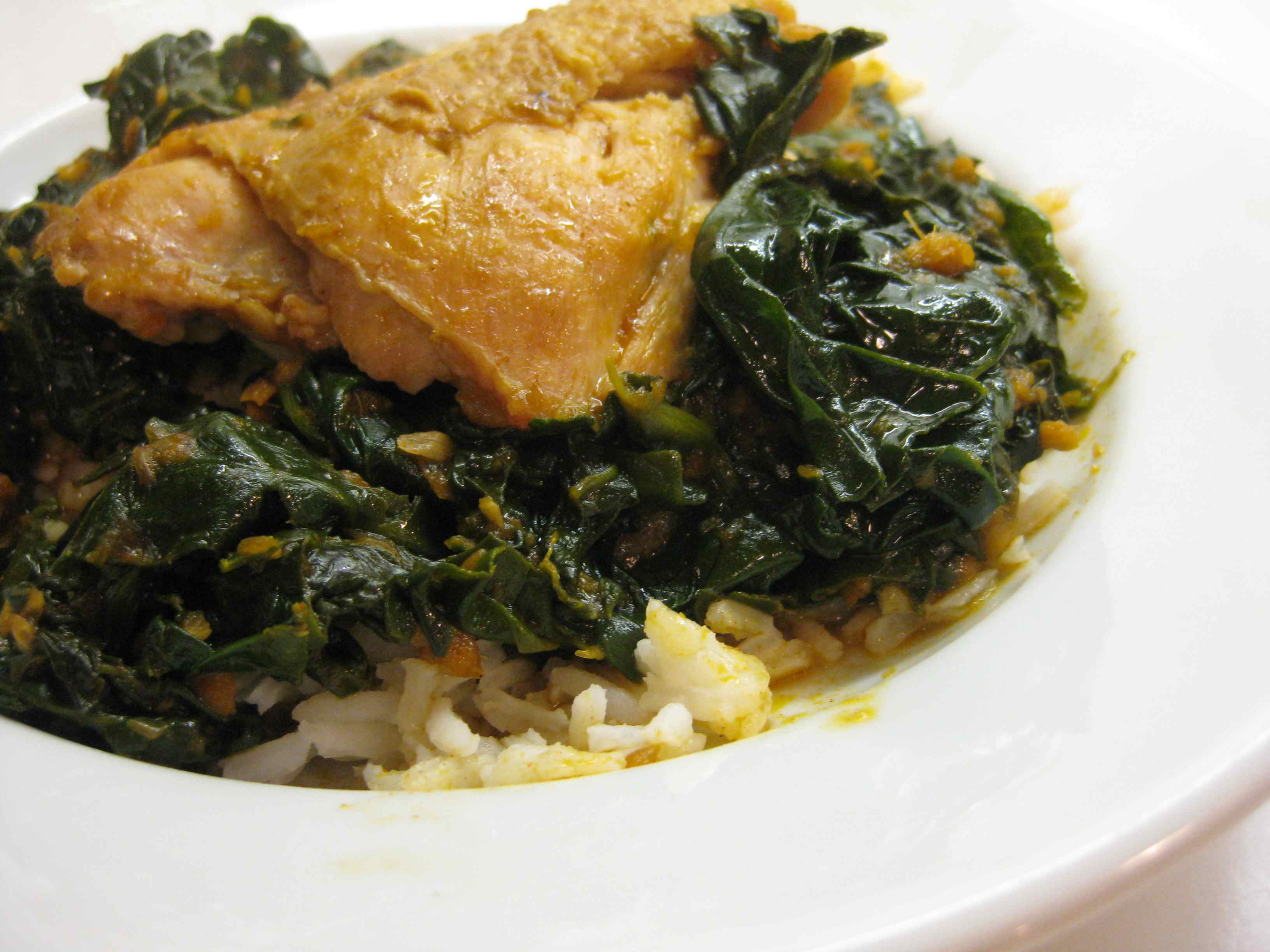 Chicken with Spinach Indian-style | Prospect: The Pantry