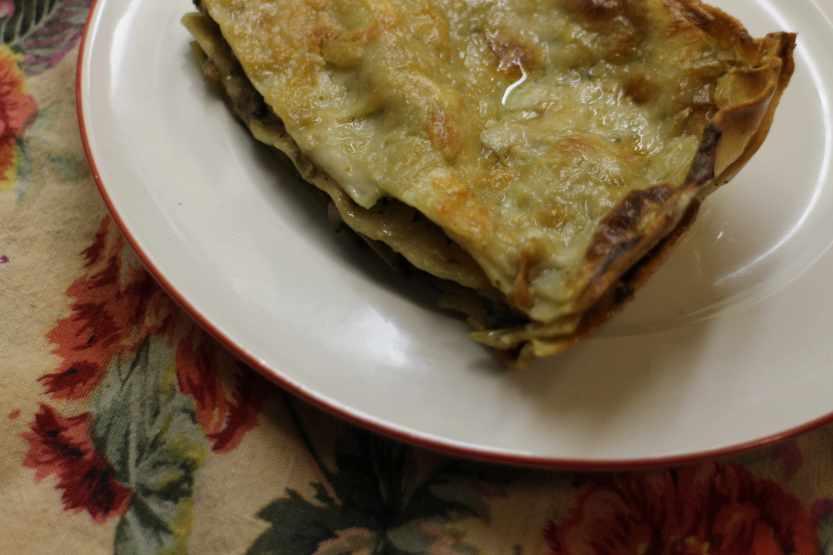 2012 1229 IMG_0277 mushroom lasagna plated