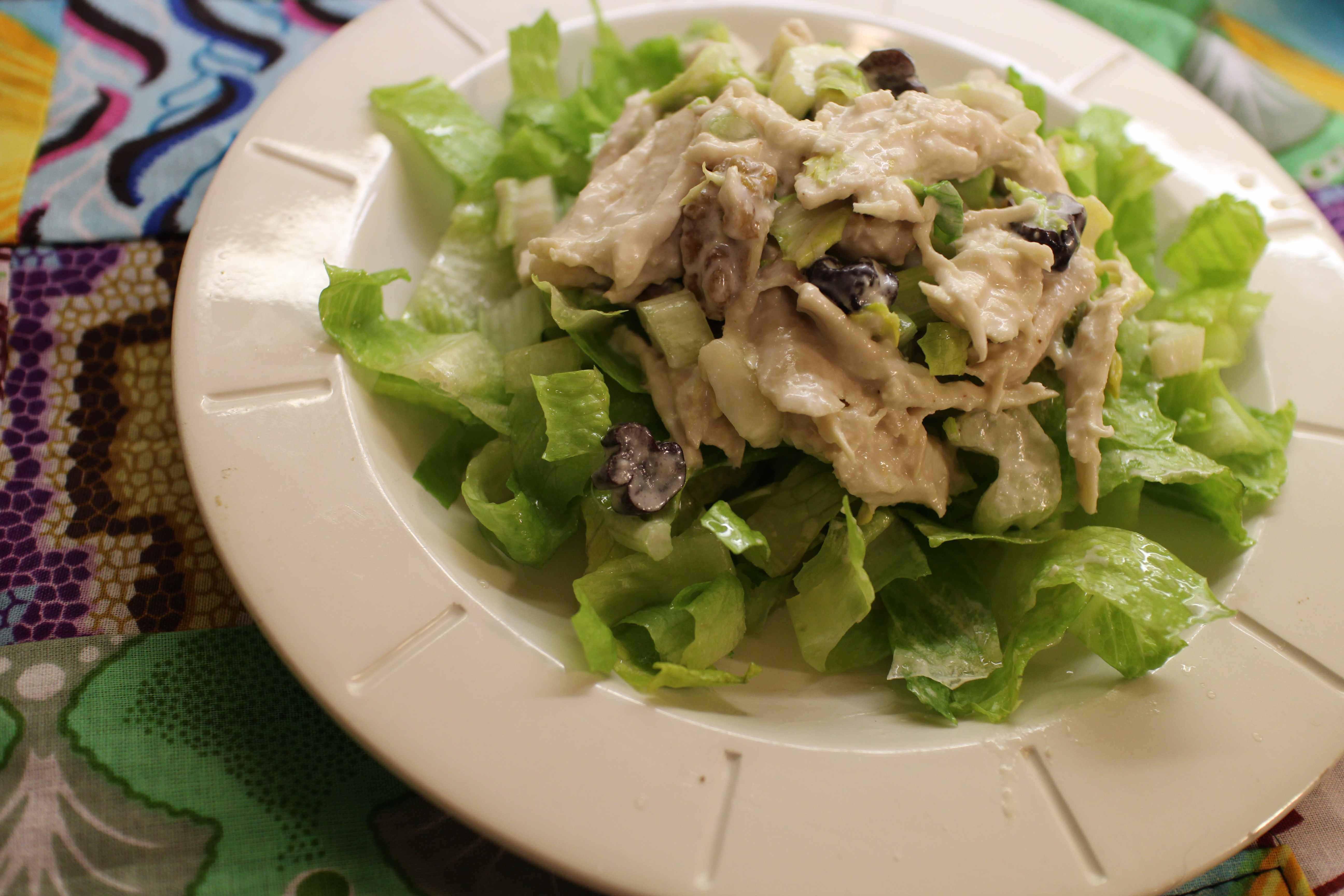 2013 0130 IMG_0608 Chicken salad on lettuce