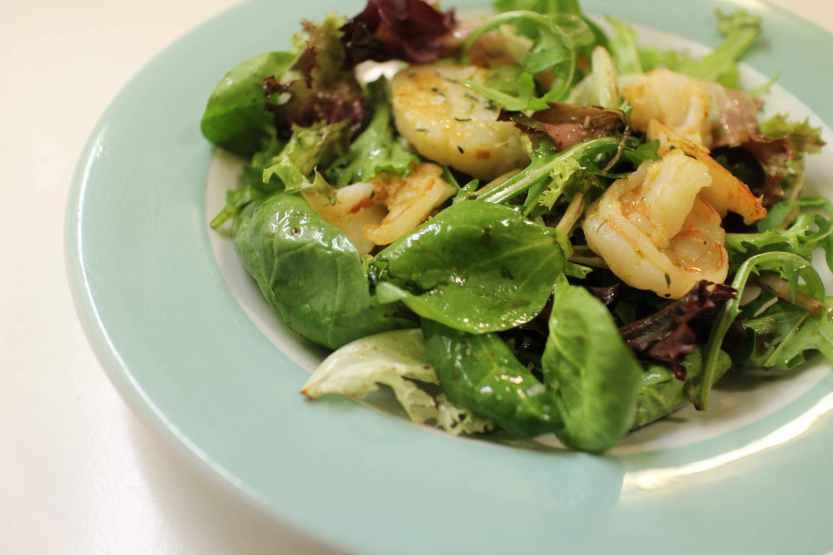 2013 0216 IMG_0374 Shrimp and scallops on salad