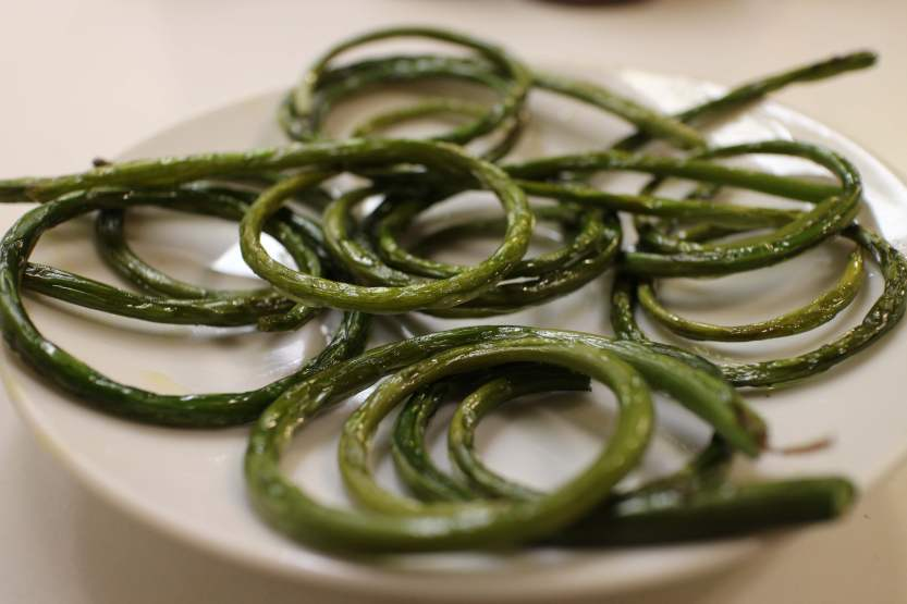 2013 0629 IMG_1947 Roasted garlic scapes