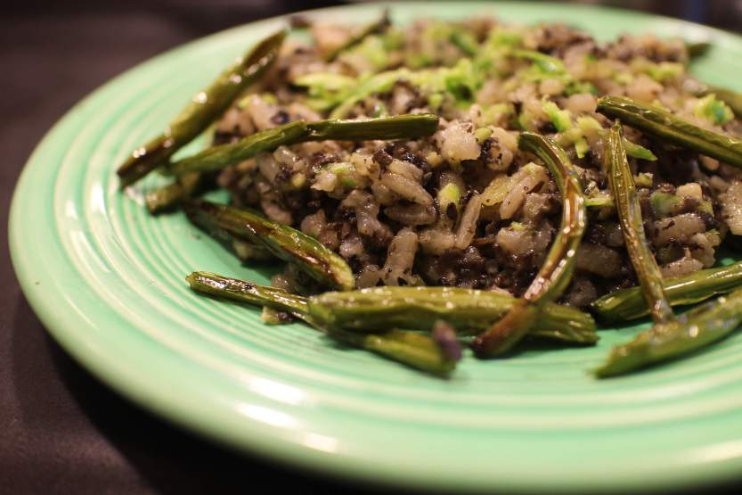 2013 0701 IMG_2013 Mushroom garlic scape risotto