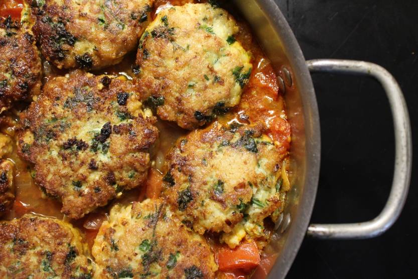 2013 0928 IMG_3170 Cod cakes in tomato sauce