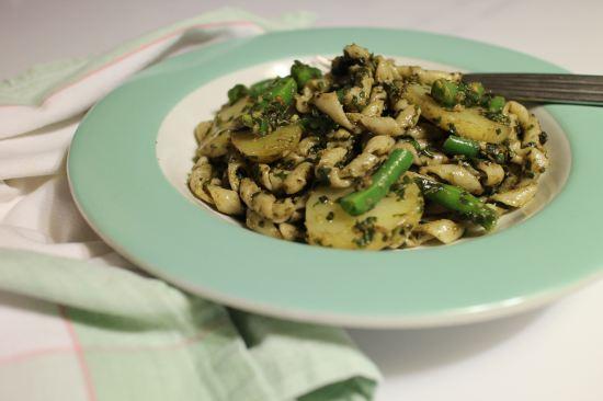 2013 1030 IMG_3251 Pasta, pesto potatoes, beans