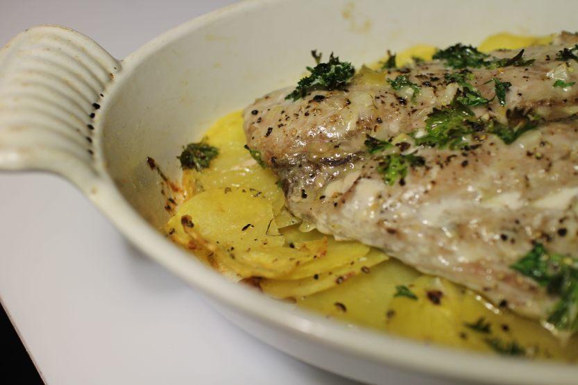 2013 1030 IMG_3268 Bluefish on potatoes