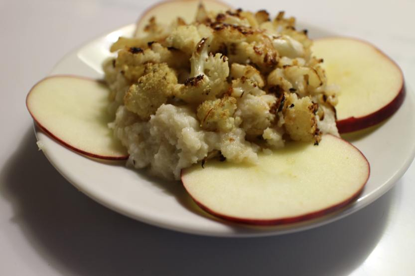 2013 1110 IMG_3481 Roasted cauliflower on puree
