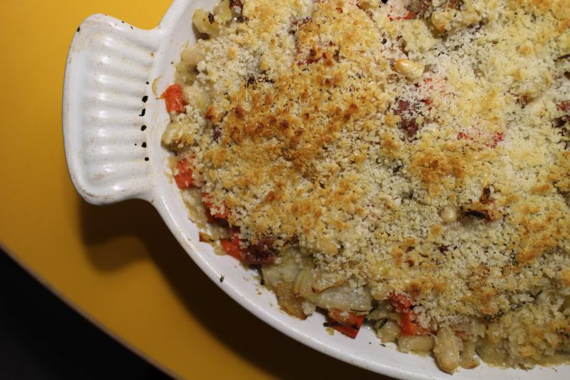 2014 0324 IMG_3995 cassoulet of chicken, fennel, sausage