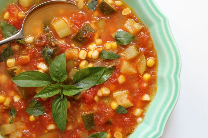 2014 0712 IMG_4867 Zucchini Tomato Corn Soup