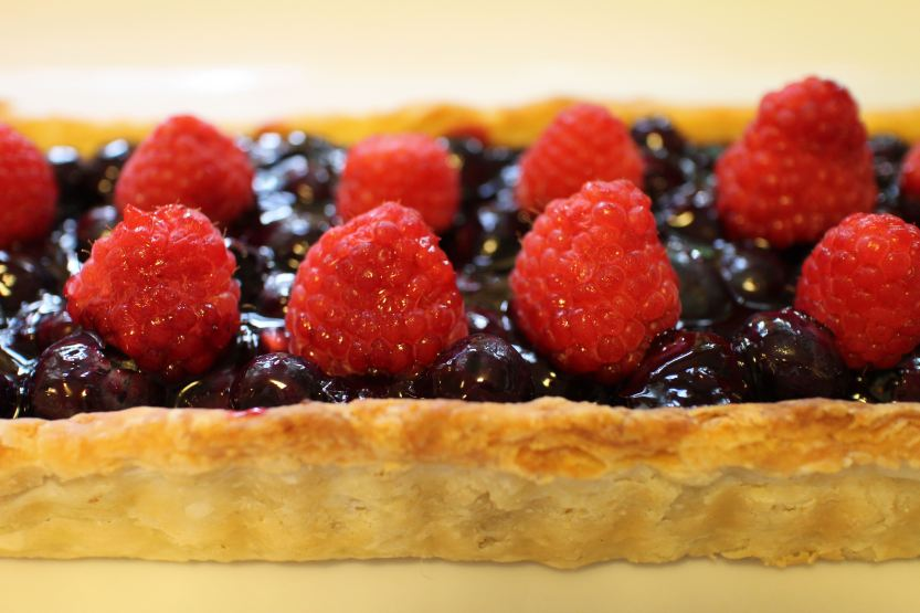 2014 0814 Blueberry and raspberry tart