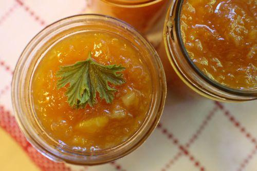 2014 0914 Peach Citrus Marmalade in Jars