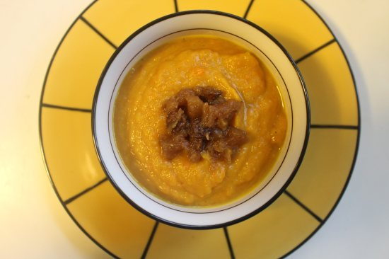 2015 0123 Curried squash soup with apple conserve