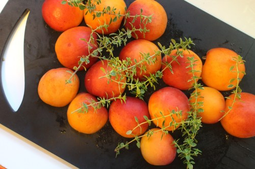2015 0808 Apricots and lemon thyme