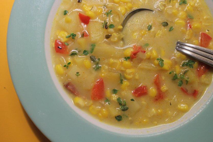 2015 0809 Roasted Corn Chowder