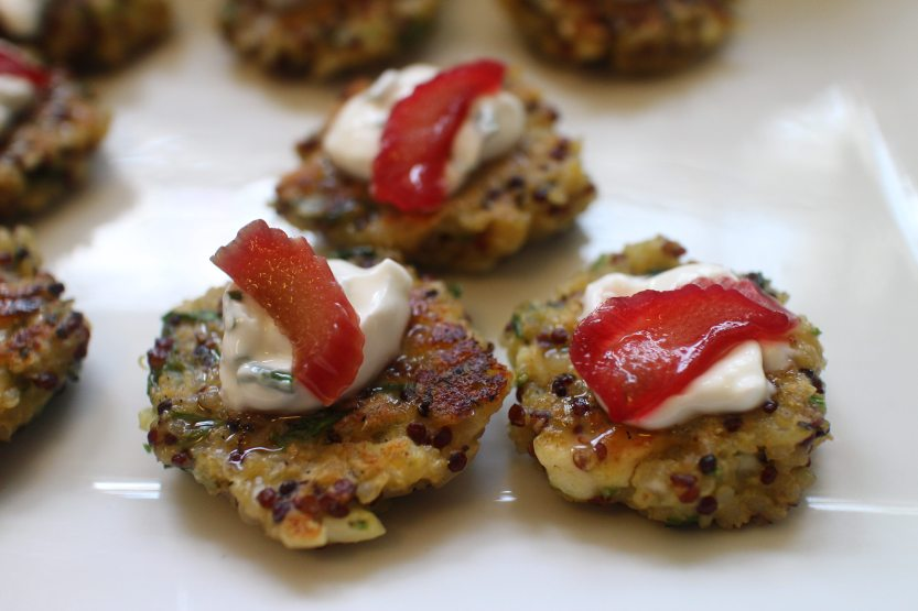 2017 0529 Quinoa cakes with pickled rhubarb